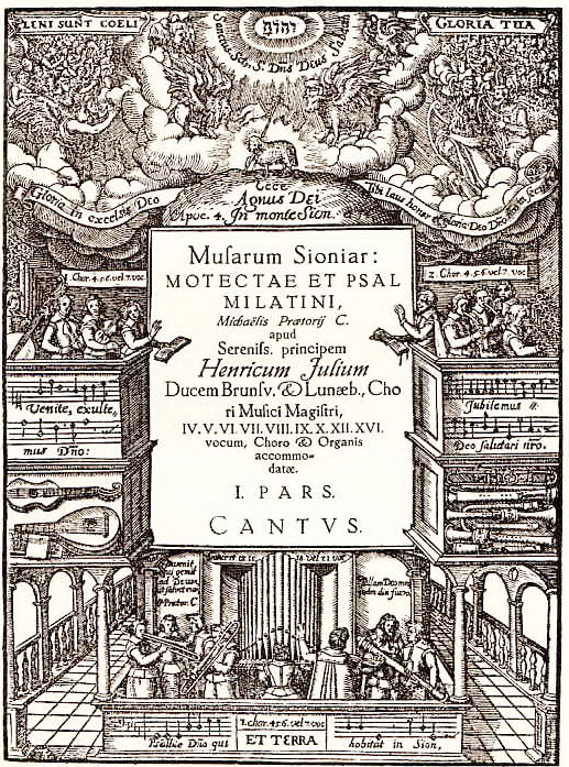 Titelblatt zu MOTECTAE ET PSALMI LATINI (2. Auflage 1607), Quelle: Gesamtausgabe Bd. 1 S. V