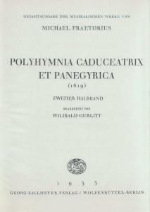 Gesamtausgabe der musikalischen Werke von Michael Praetorius, Band 17, Titelseite